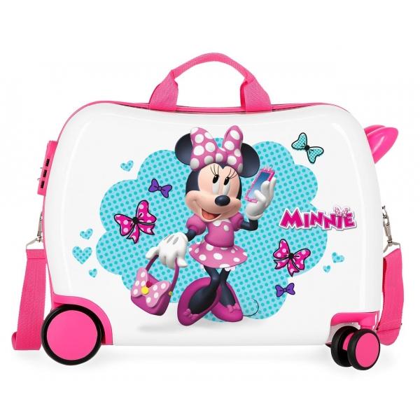 Maleta infantil 2 ruedas multidireccionales Minnie Good Mood