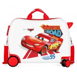 Maleta infantil 2 ruedas multidireccionales Cars Good Mood