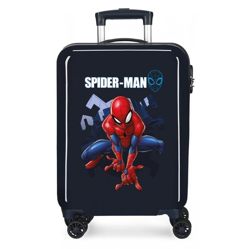 Maleta de Cabina Spiderman Action rígida 55cm Azul