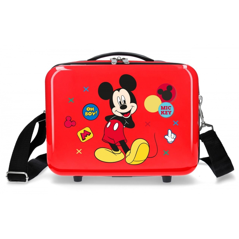 Neceser adaptable a trolley Mickey Enjoy the Day Oh Boy Rojo