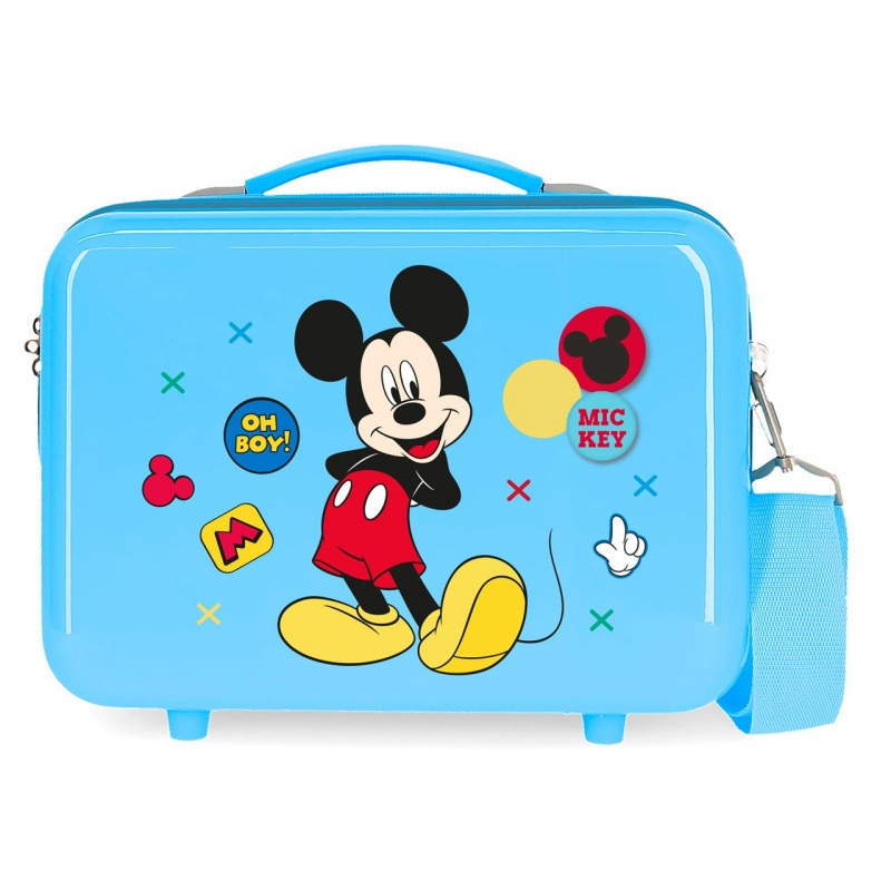 Neceser adaptable a trolley Mickey Enjoy the Day Oh Boy Azul