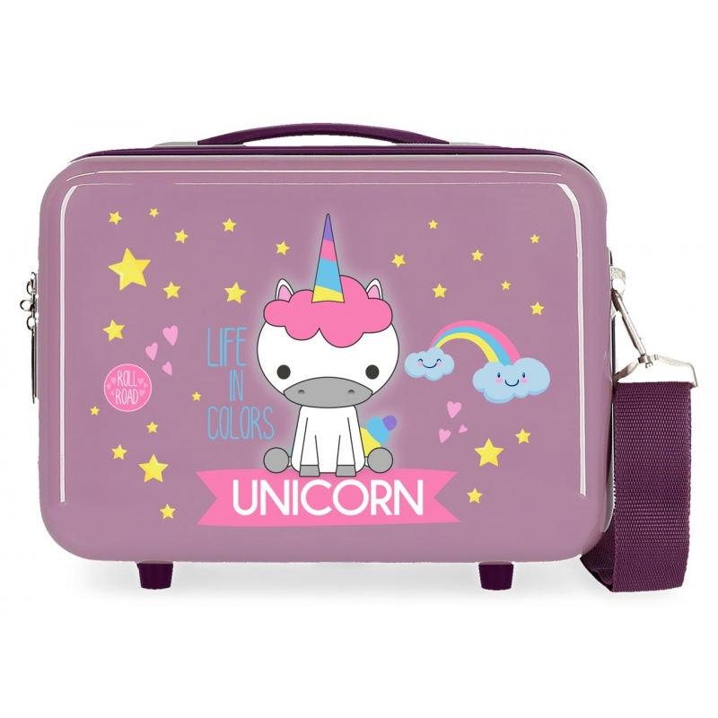 Neceser ABS Roll Road Little Me Unicorn Lila