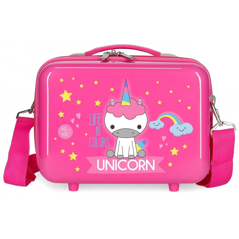 Neceser ABS Roll Road Little Me Unicorn Rosa