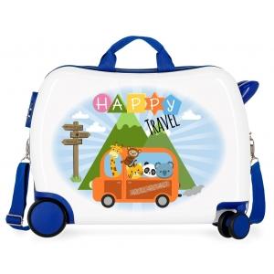 Maleta infantil 2 ruedas multidireccionales Little Me Happy