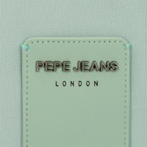 Bandolera con cremalleras Pepe Jeans Mia Turquesa