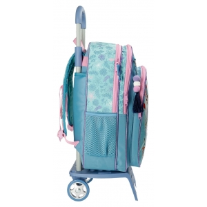 Mochila Escolar Frozen Awesome Moves 42cm con Carro