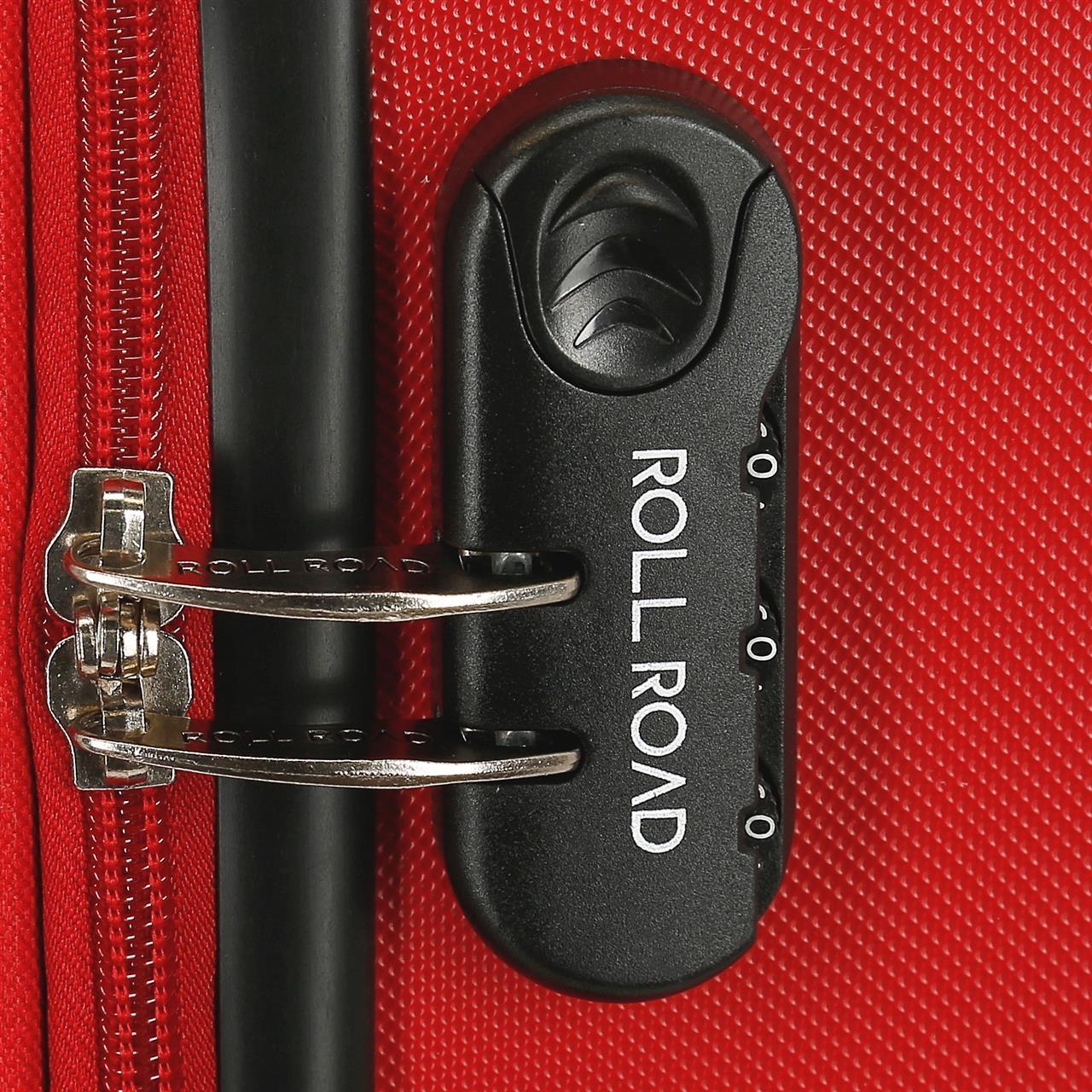 Maleta de cabina rígida 55cm Roll Road Magazine roja