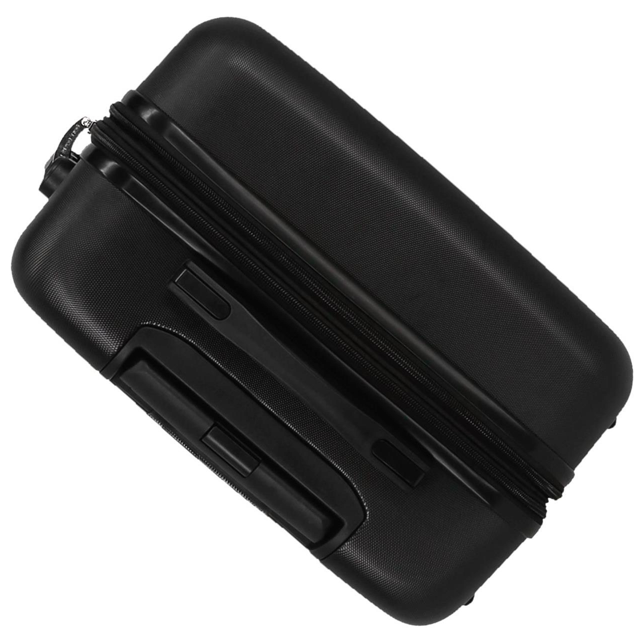 Juego de dos maletas rígidas 55-66cm Roll Road Magazine Negro