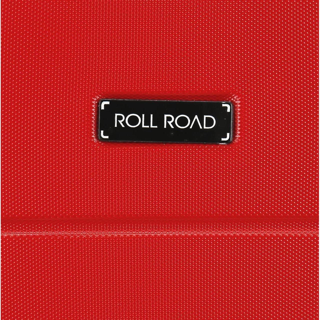 Juego de dos maletas rígidas 55-66cm Roll Road Magazine Rojo