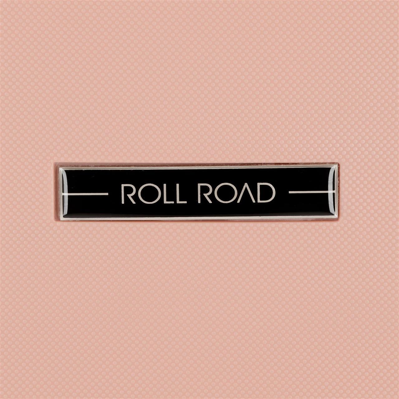 Maleta de cabina rígida Roll Road Fast rosa