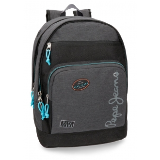 Mochila Pepe Jeans Teo doble compartimento adaptable a carro