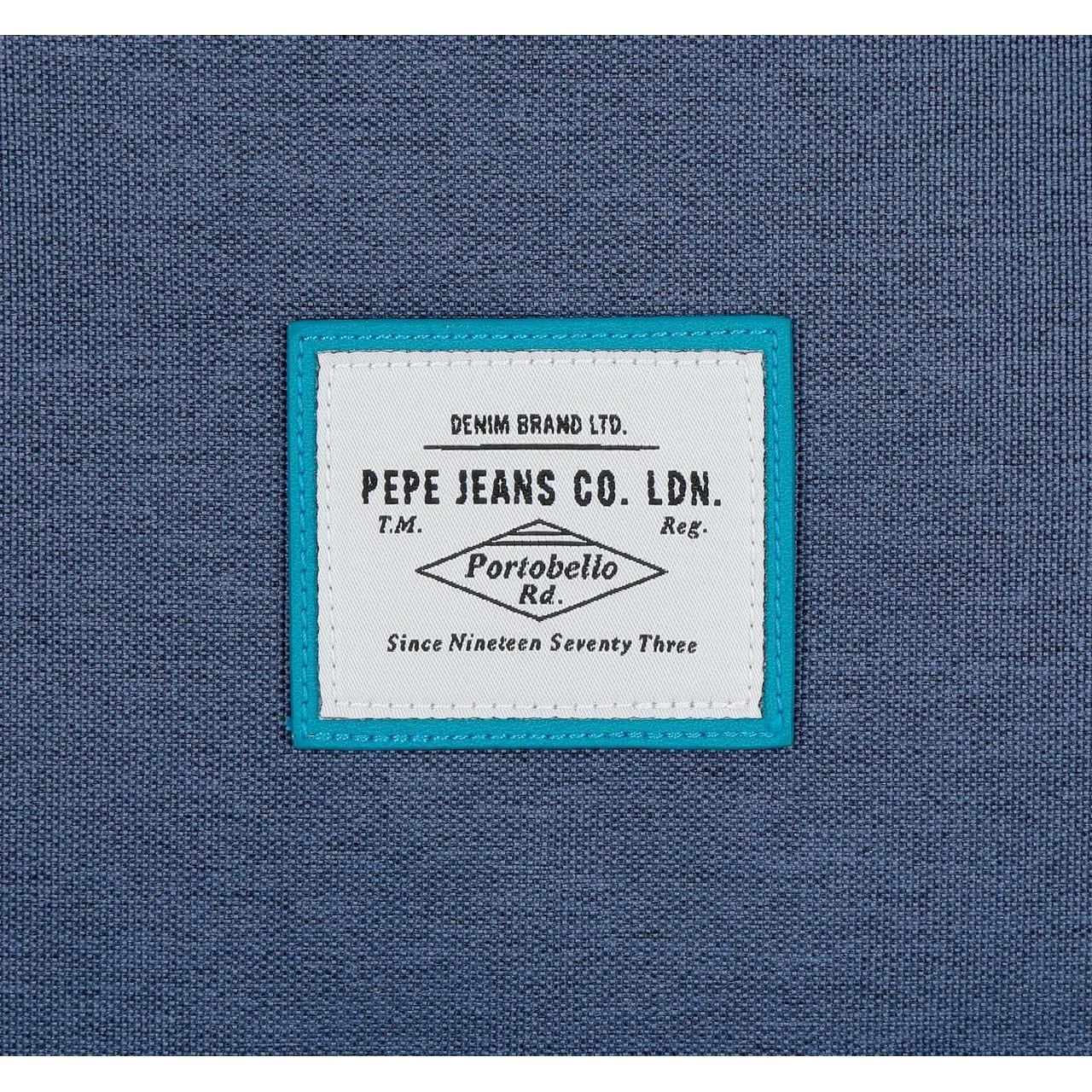 Mochila 44 cm doble cremallera Pepe Jeans Molly azul