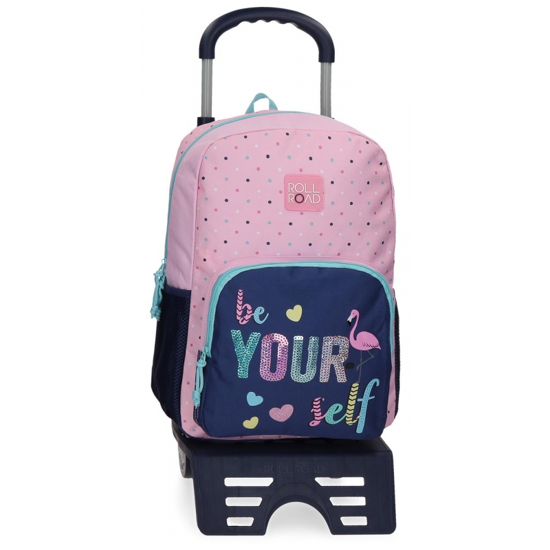 Mochila 40cm con Carro Roll Road Be yourself