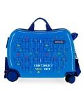 Maleta Infantil Enso Gamer 2 ruedas multidireccionales Azul