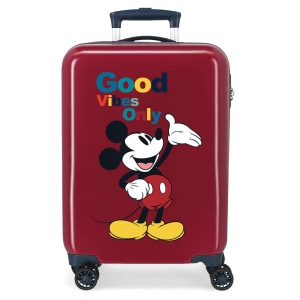 Maleta de cabina MICKEY ORIGINAL GOOD VIBES ONLY GRANATE