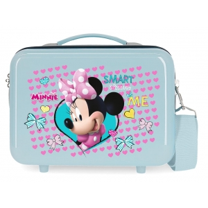Neceser ABS Minnie Happy Helpers  Adaptable Azul claro