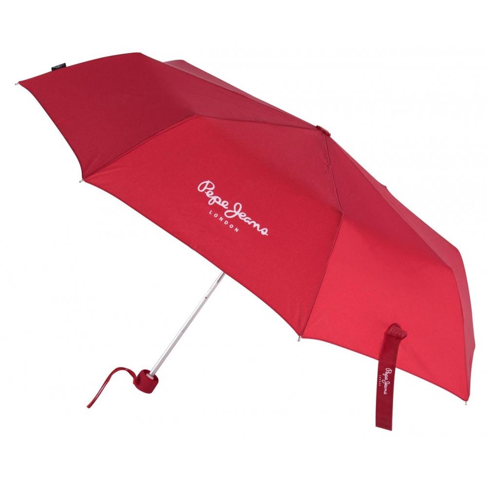 Paraguas Pepe Jeans Holloway Manual Rojo