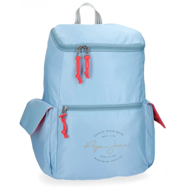 Mochila Pepe Jeans Yoga Azul adaptable a trolley