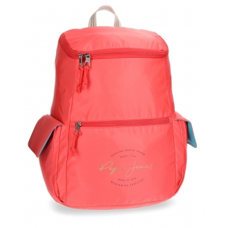 Mochila Pepe Jeans Yoga Roja adaptable a trolley