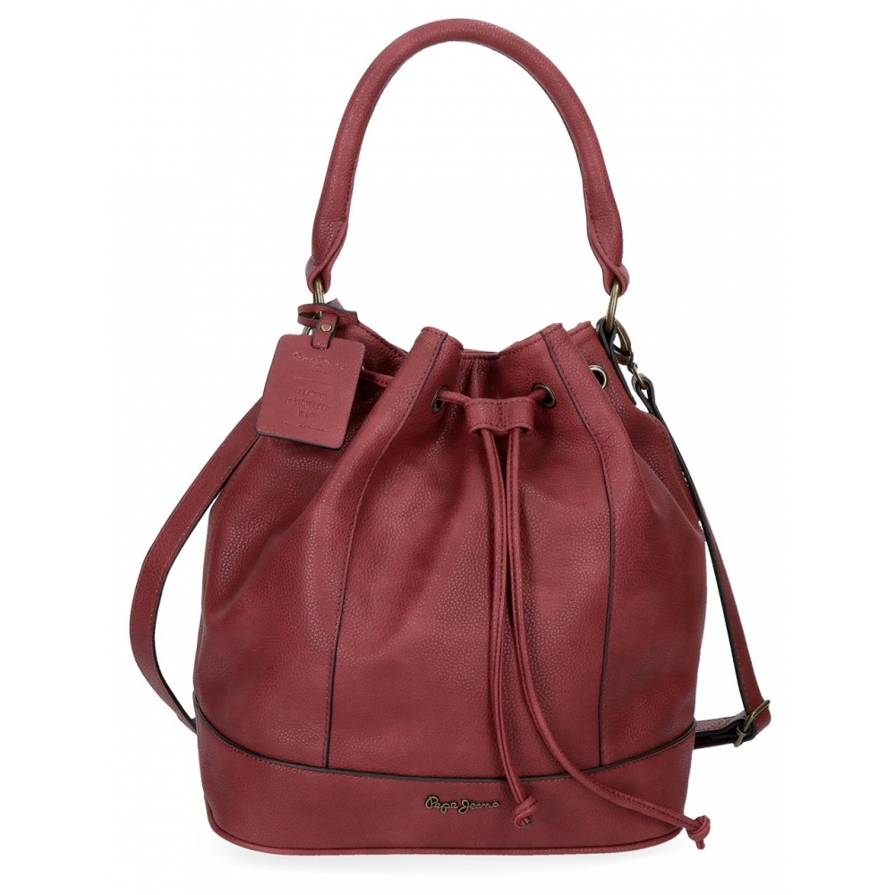 Pepe Jeans Colette Bolso Granate Bowling D9EHI2W