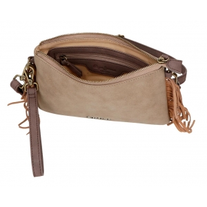 Bolso clutch Pepe Jeans Fringe Taupe