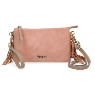 Bolso clutch Pepe Jeans Fringe Nude