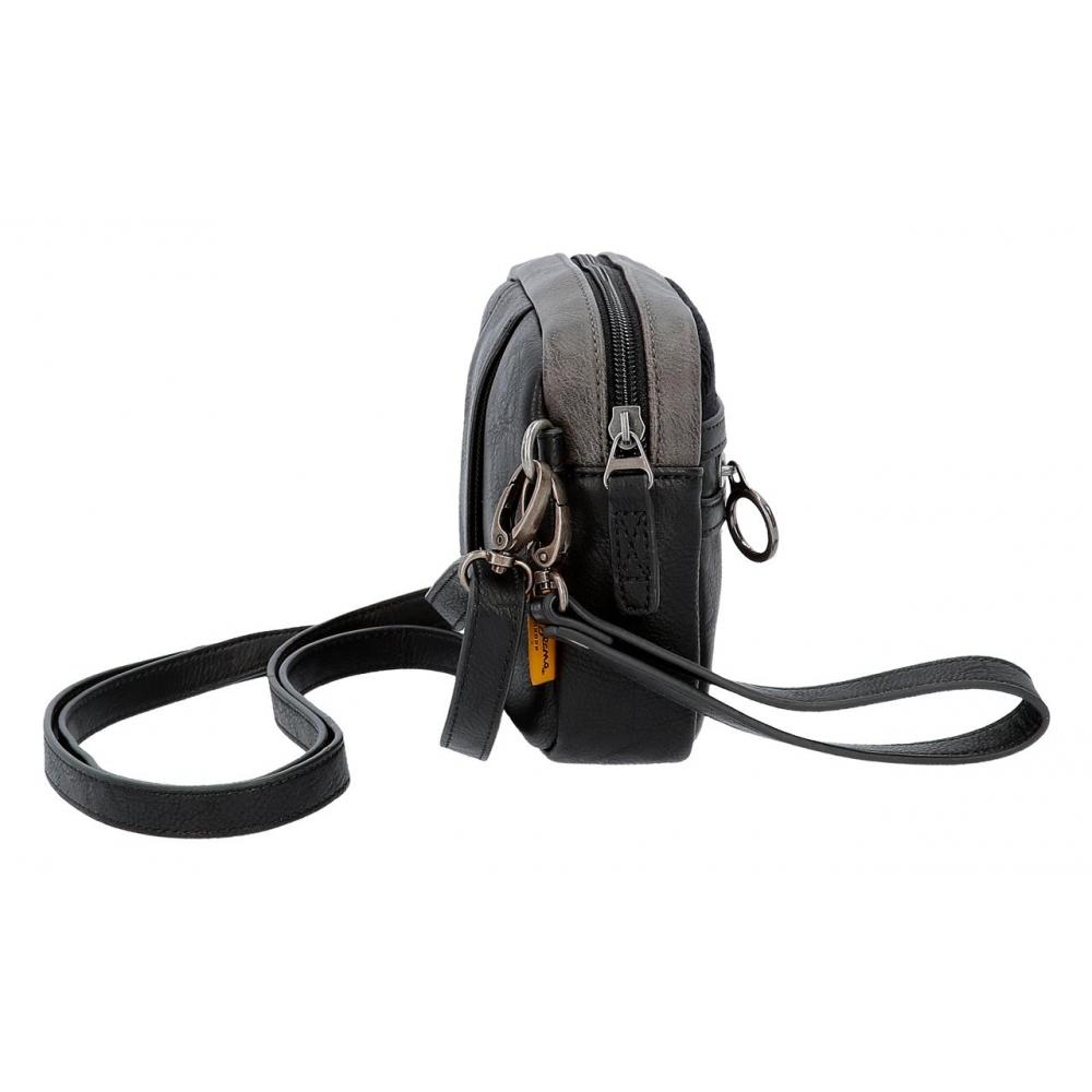 Bolso de mano de hombre Pepe Jeans Miller con bandolera negro