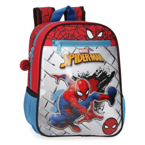 Mochila 28cm adaptable a carro Spiderman Red