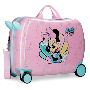 Maleta correpasillos Minnie Mermaid con ruedas multidireccionales