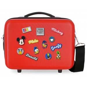 Neceser ABS Mickey Adaptable personajes roja