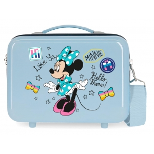 Neceser ABS Enjoy Minnie Hi love  Adaptable Azul