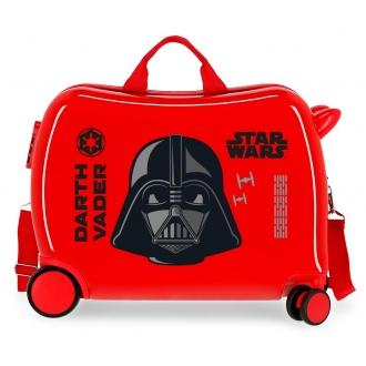 Maleta infantil 2 ruedas multidireccionales Star Wars Darth Vaider Rojo
