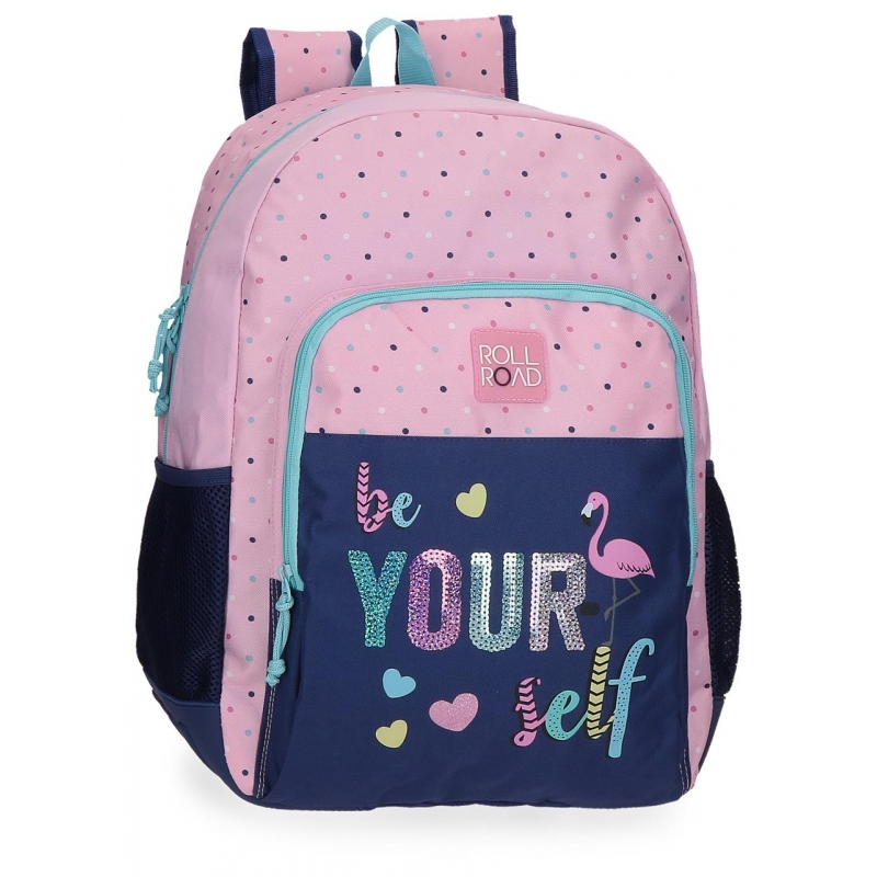 Mochila escolar 44cm Roll Road Be yourself