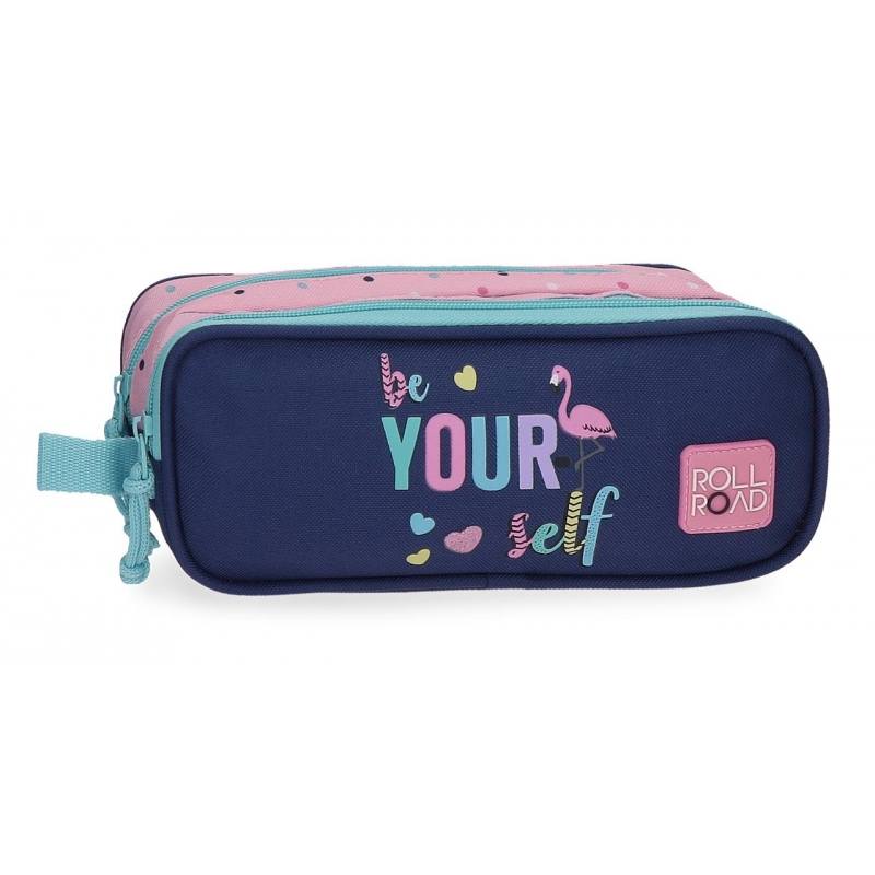 Estuche Roll Road Be yourself Dos Compartimentos