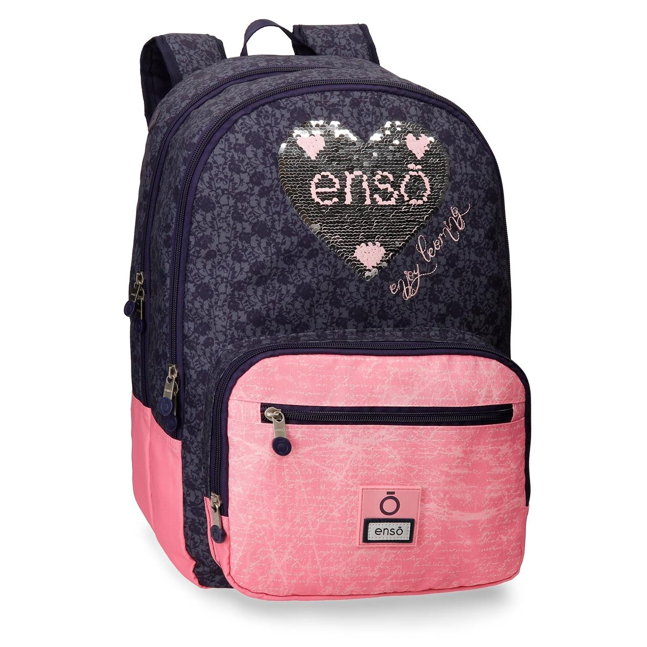 Mochila Doble Compartimento 44cm Enso Learn adaptable a carro