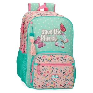Mochila Movom Save the Planet Doble Compartimento Adaptable