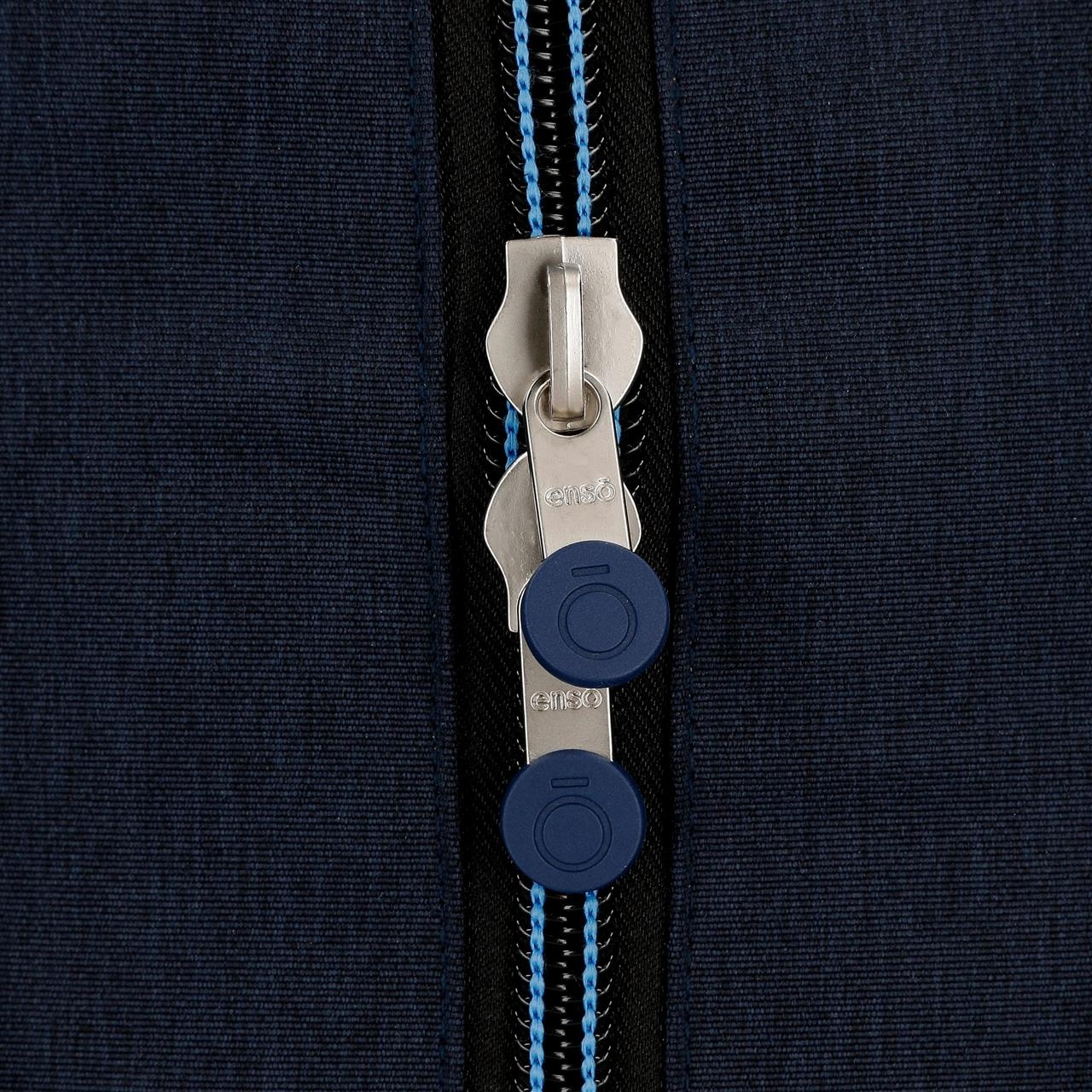 Mochila Doble Compartimento con Carro Enso Blue