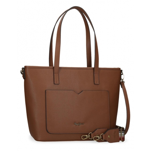 Bolso Shopper Pepe Jeans India Marrón