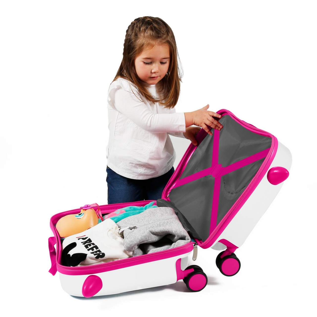 Maleta infantil 2 ruedas multidireccionales Enso Trust