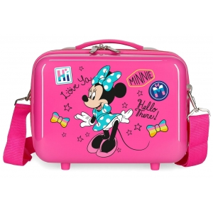 Neceser ABS Enjoy Minnie Hi love  Adaptable Fucsia