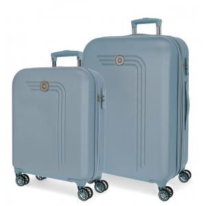 Juego de maletas rígidas 55-70cm Movom Riga Azul Claro