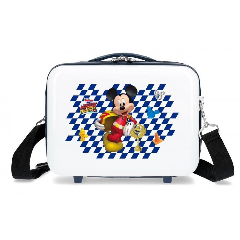 Neceser ABS Adaptable Mickey Good Mood Blanco