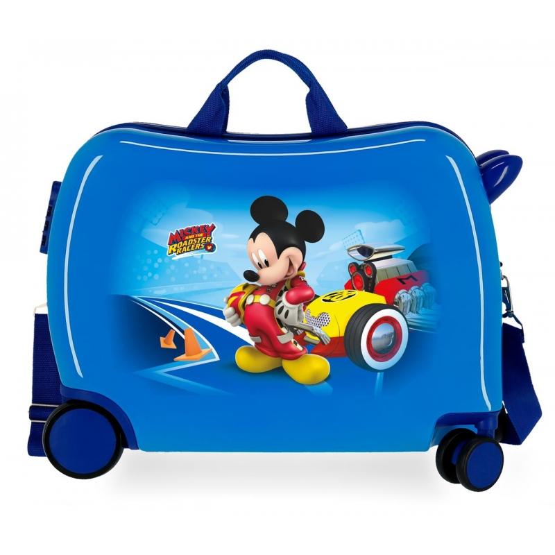 Maleta infantil ruedas multidireccionales Lets Roll Mickey Azul