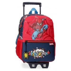 Mochila Spiderman Pop 32cm con Carro