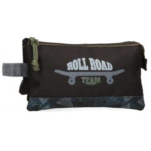 Estuche tres compartimentos Roll Road Team