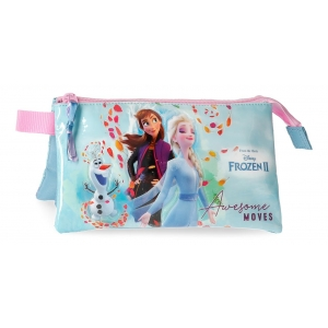 Estuche Frozen Awesome Moves Tres Compartimentos
