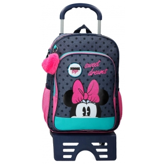 Mochila Sweet Dreams Minnie Escolar 40cm con Carro