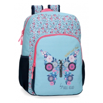 Mochila Escolar 40cm Roll Road Wild and free