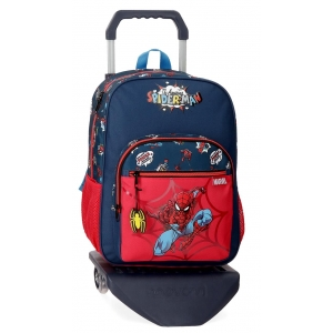 Mochila Escolar Spiderman Pop con Carro