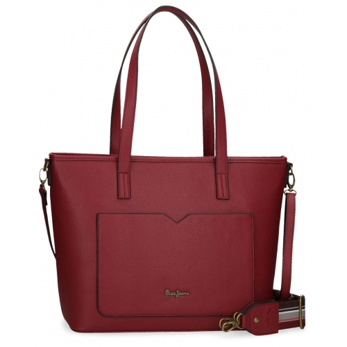 Bolso Shopper Pepe Jeans India Burdeos